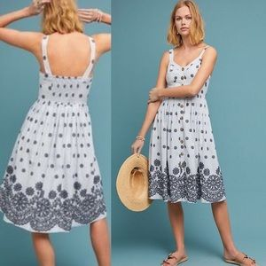 Anthropologie Savoy Buttondown Dress